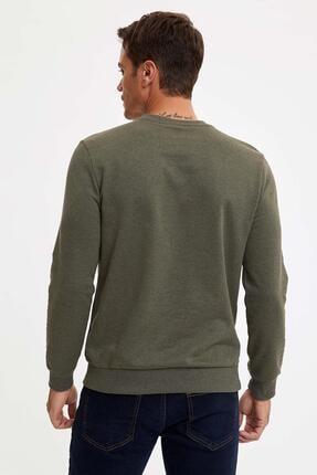Defacto Bisiklet Yaka Regular Fit Basic Sweatshirt 3