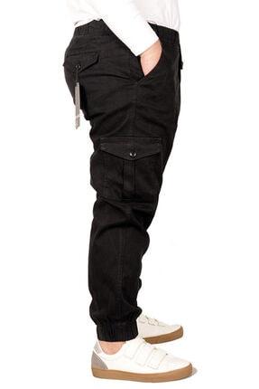 Modexl Büyük Beden Erkek Keten Kargo Jogger 21910 Siyah 1