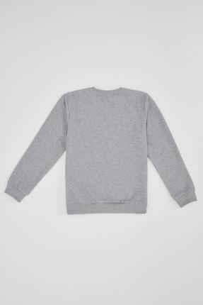 Defacto Erkek Çocuk Basic Selanik Kumaş Sweatshirt 1