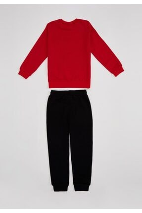 Defacto Erkek Çocuk Kaplan Baskılı Sweatshirt Ve Eşofman Altı Takım 4