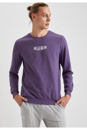 Defacto High Baskılı Bisiklet Yaka Regular Fit Sweatshirt 0