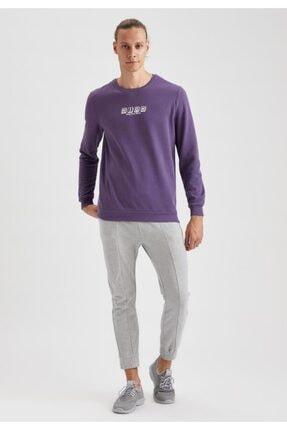 Defacto High Baskılı Bisiklet Yaka Regular Fit Sweatshirt 1