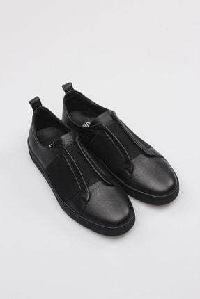 Alba Siyah Hakiki Deri Lastikli Erkek Ayakkabı 2