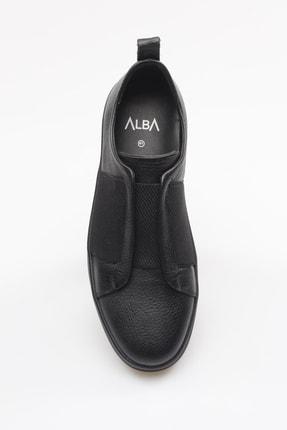 Alba Siyah Hakiki Deri Lastikli Erkek Ayakkabı 3