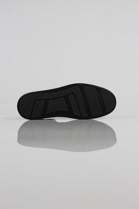 Alba Siyah Hakiki Deri Lastikli Erkek Ayakkabı 4