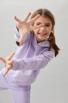 Defacto Kız Çocuk Organik Pamuk Alt Üst Eşofman Takım 0