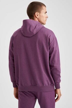 Defacto Oversize Fit Kapüşonlu Basic Sweatshirt 3
