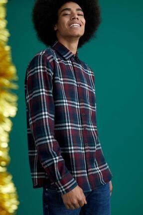 Defacto Ekose Uzun Kollu Regular Fit Gömlek Ceket 4