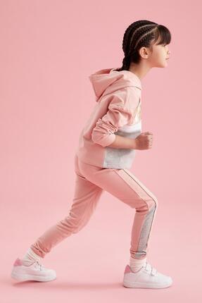 Defacto Kız Çocuk Simli Arabiye Detaylı Jogger Eşofman Altı 2