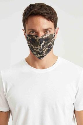 Defacto Kamuflaj Desenli Yıkanabilir Maske 0