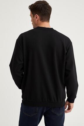 Defacto Oversize Fit Basic Bisiklet Yaka Sweatshirt 3