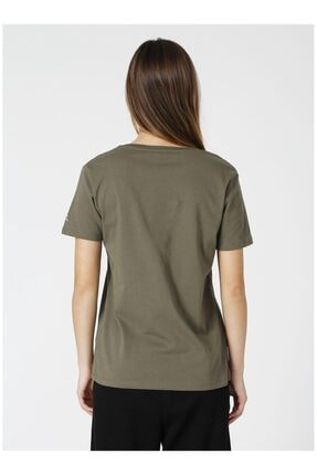 Fabrika Kadın Haki Tişört 3