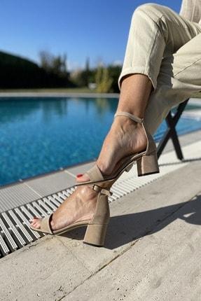 İnan Ayakkabı Kadın Tek Bant Bilekli Topuklu Ayakkabı 3