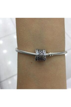 My Story Taşlı Dantel Gümüş Charm 1
