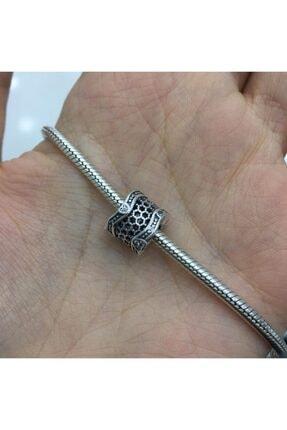 My Story Taşlı Dantel Gümüş Charm 2