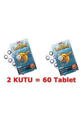 Easy Fishoil Çocuklar Için Omega 3 Ve D Vitamini 30 Tablet 2 Adet Balık Yağı 1