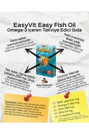 Easy Fishoil‎ Easy Fish Oil 30 Jel Tablet X 2 Adet 3