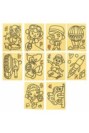 Magic Hobby 50 Adet A4 Boyutunda Kum Boyama Seti 2