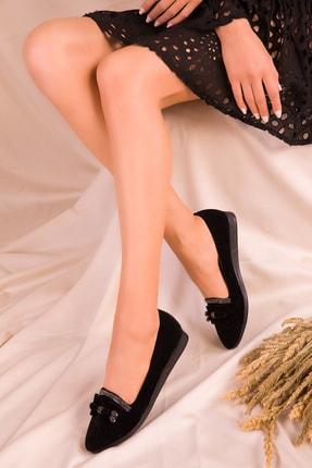 Soho Exclusive Siyah Süet Kadın Babet 15883 0
