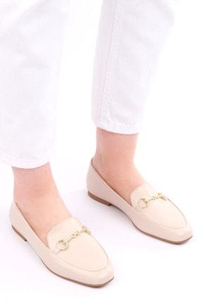 Marjin Kadın Bej Loafer Ayakkabı Bekla 1