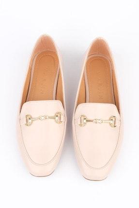 Marjin Kadın Bej Loafer Ayakkabı Bekla 3