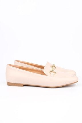 Marjin Kadın Bej Loafer Ayakkabı Bekla 4