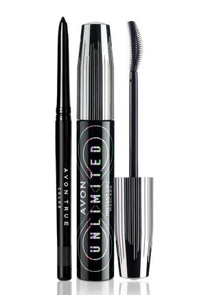 Avon Unlimited Maskara Ve Glimmerstick Göz Kalemi Paketi 0