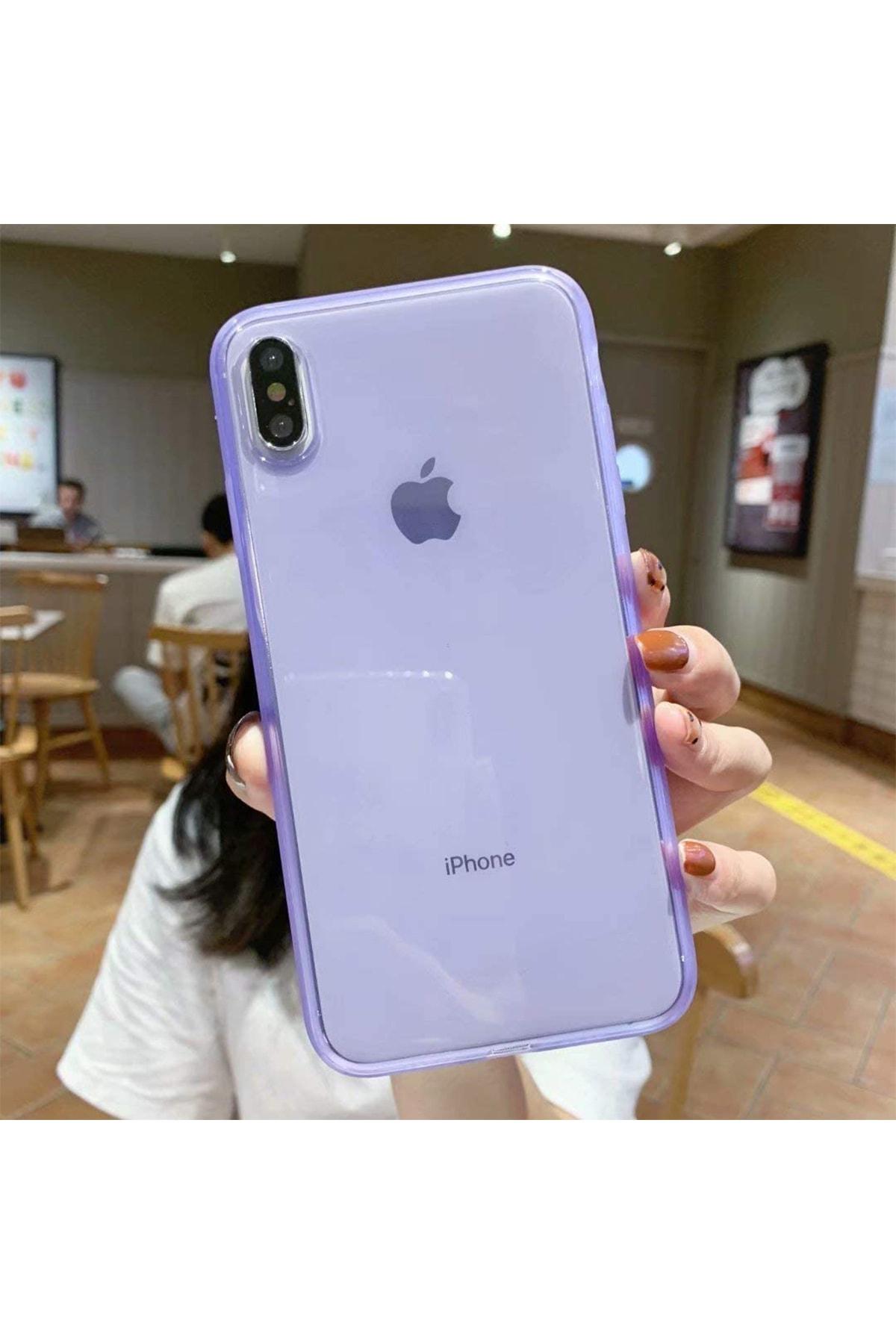 Iphone Xs Max Uyumlu Mor Crystal Süper Şeffaf Silikon Kılıf