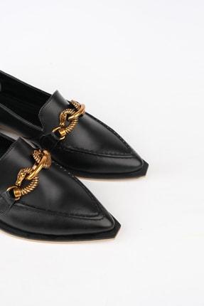 Marjin Kadın Siyah Loafer Ayakkabı Tolira 4