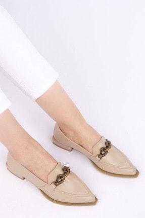 Marjin Kadın Bej Loafer Ayakkabı Tolira 1