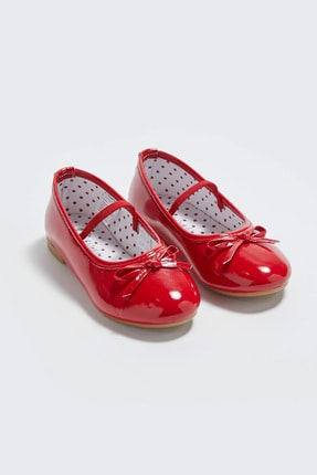 LC Waikiki Kız Çocuk Kırmızı Crt Babet 0