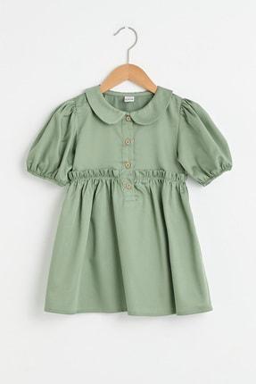 LC Waikiki Kız Bebek Açık Haki Quw Elbise 0
