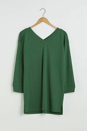 LC Waikiki Kadın Orta Yeşil Tunik 0