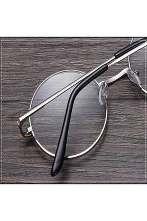 Retro Unisex Yuvarlak Şeffaf Gözlük 2