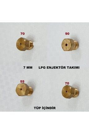 VESTEL Ocak Lpg Tüp Dönüşüm Enjektör Memeleri Takım Regal 7 Lokma Anahtar Ile Sökülür Tüp Için 0