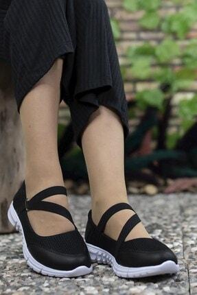 Riccon Kadın Siyah Beyaz Casual Ayakkabı 0012601 3