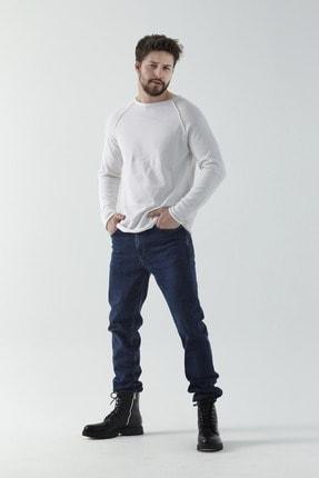 Erkek Soluk Mavi Efektli Modern Slim Fit Jean Pantolon 2183282189