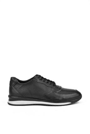 Picture of , Erkek Hakiki Deri Sneaker 111415 455109 Sıyah