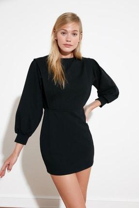 TRENDYOLMİLLA Siyah Sırt Bağlamalı Örme Elbise TWOSS21EL0484 2