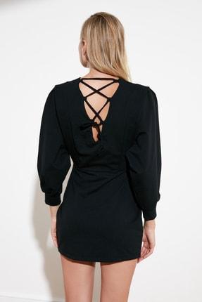 TRENDYOLMİLLA Siyah Sırt Bağlamalı Örme Elbise TWOSS21EL0484 3