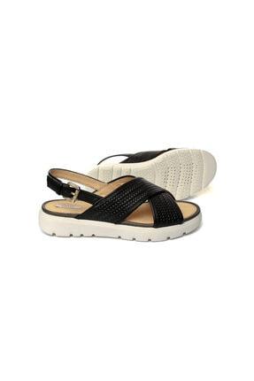 Geox Kadın Siyah Topuklu Sandalet D827wb-c9999 2