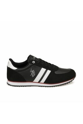 US Polo Assn Erkek Siyah Plus Comfort Casual Günlük Spor Ayakkabısı 1
