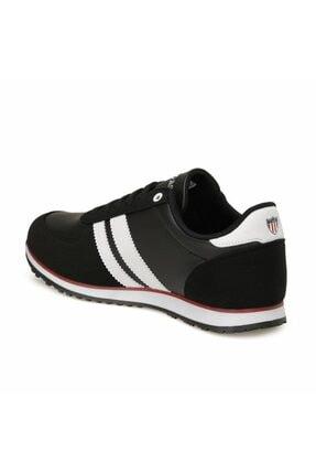 US Polo Assn Erkek Siyah Plus Comfort Casual Günlük Spor Ayakkabısı 2