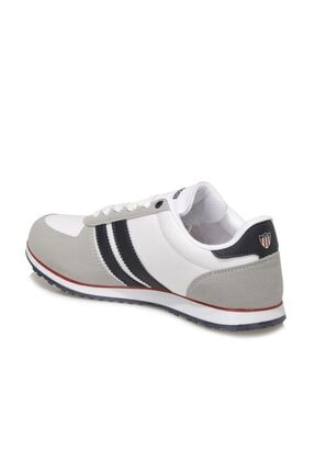 US Polo Assn Erkek Beyaz Mesh Comfort Casual Sneaker Ayakkabı 2