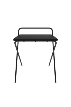 Tedarikcenter Laptop Masası Katlanabilir Çalışma Masası Koltuk Sehpası 52x41 Cm Masa - Siyah 1