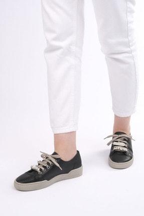 Marjin Kadın Siyah Sneaker Ayakkabı Dalis 4