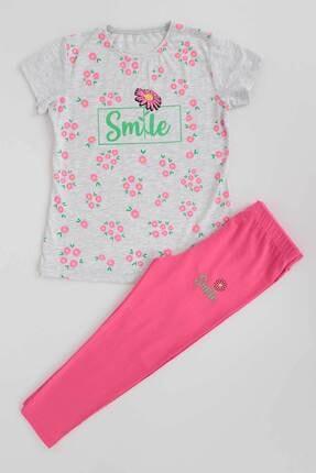 Ahenk Kids Ak621721108 Kız Çoçuk Smile Baskılı Taytlı Takım 4