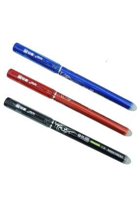 Kuki Silinebilir Ve Isıyla Uçan Jel Tükenmez Kalem Siyah+kırmızı+mavi Set 0