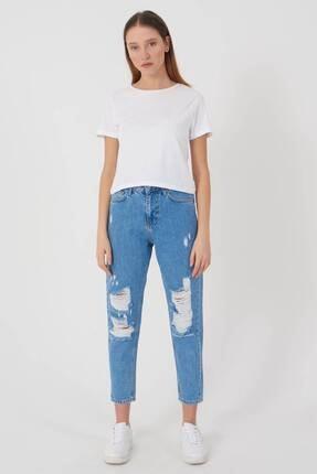 Addax Kadın Beyaz Kısa Kollu Basic T-Shirt P0750 - X3 Adx-0000020815 2