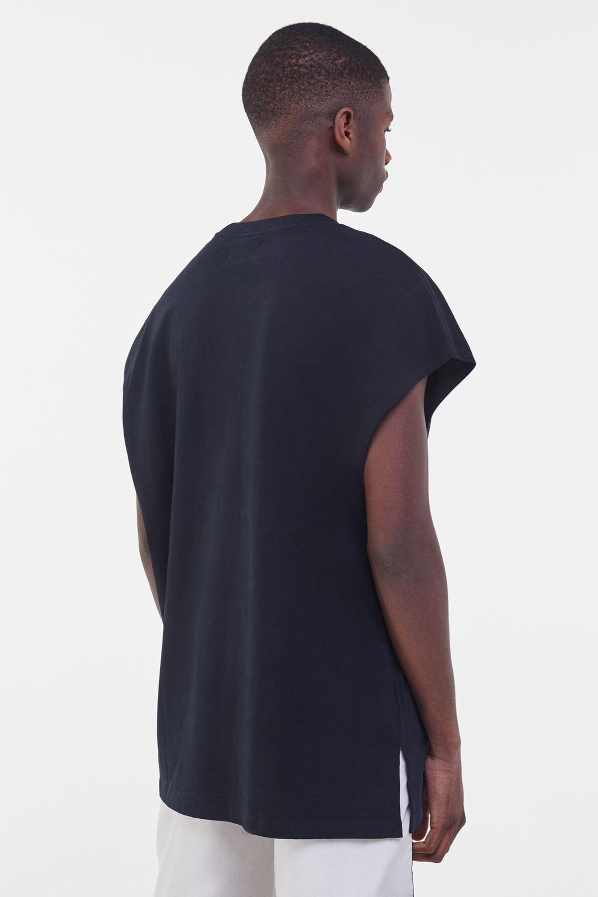 Bershka Erkek Siyah Ekstra Loose Fit Worker T-shirt 1